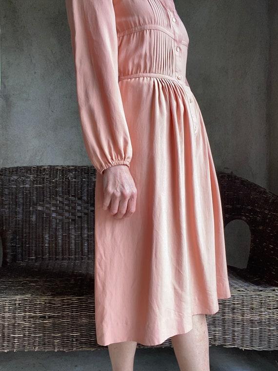 Vintage dusty peachy pink silk dress - image 2