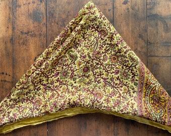 Vintage tissue silk floral scarf