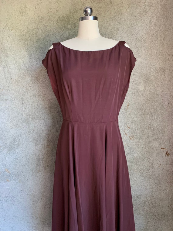 Vintage cold shoulder rayon dress
