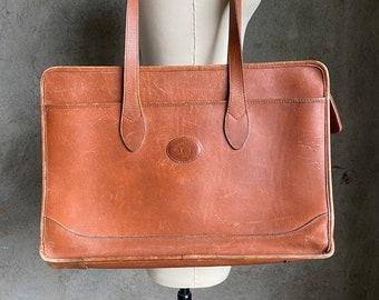 Vintage 70's leather briefcase