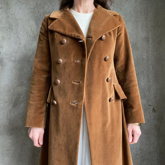 Vintage velvet maxi coat