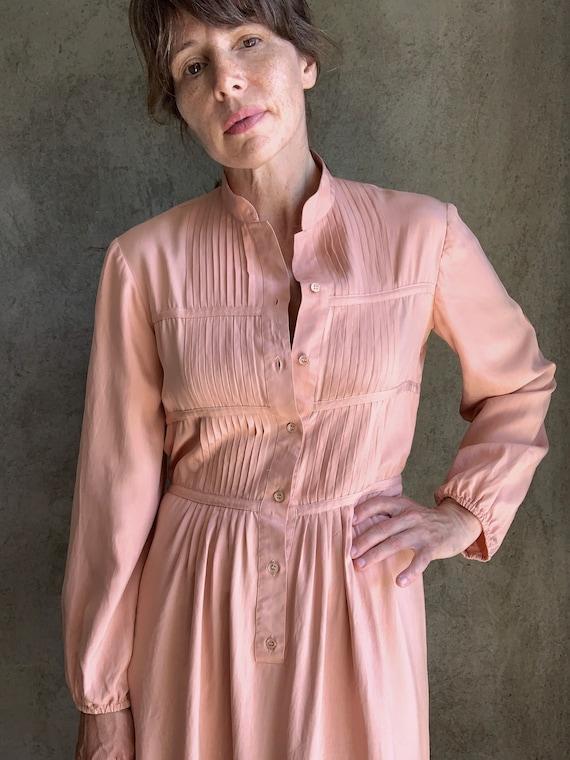 Vintage dusty pink silk dress