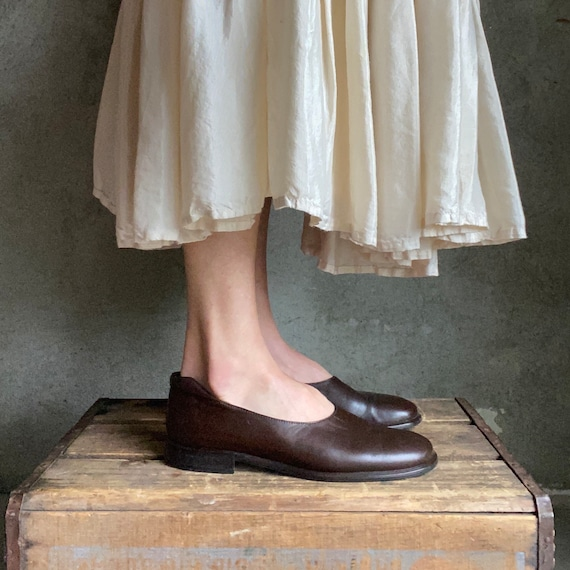 Vintage Joan and David brown leather loafers