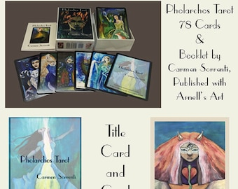 Pholarchos Tarot  -  78 Card Deck & Booklet by Carmen Sorrenti (Published by Arnell's Art)