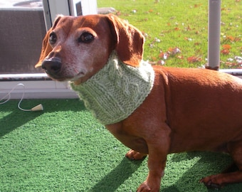 PDF PATTERN, Dog Neck Warmer, Cowl Cabled Pattern