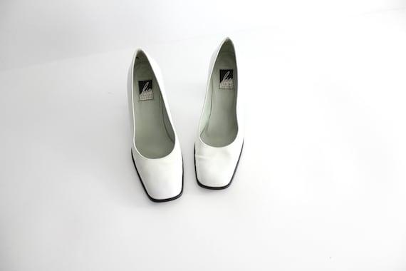 size 7 | Vintage Charles Jourdan Bis Square Toe Sh