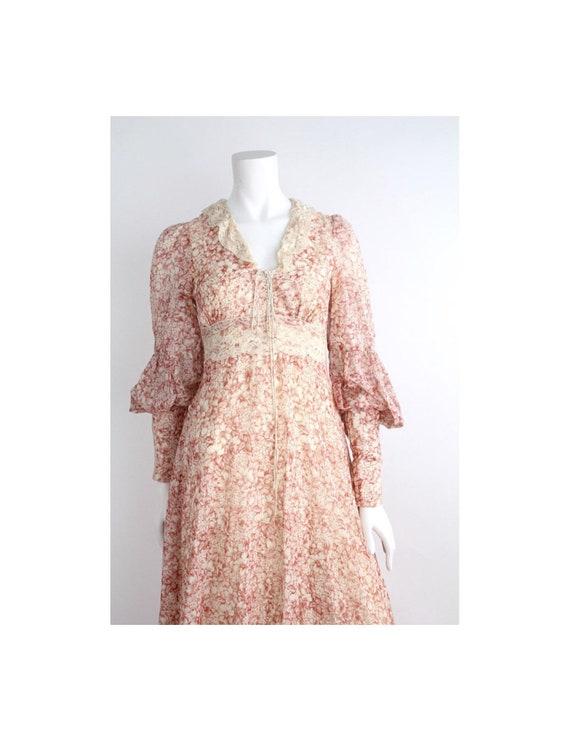 Vintage 1970s Gunne Sax Maxi Dress   Amazing Lace
