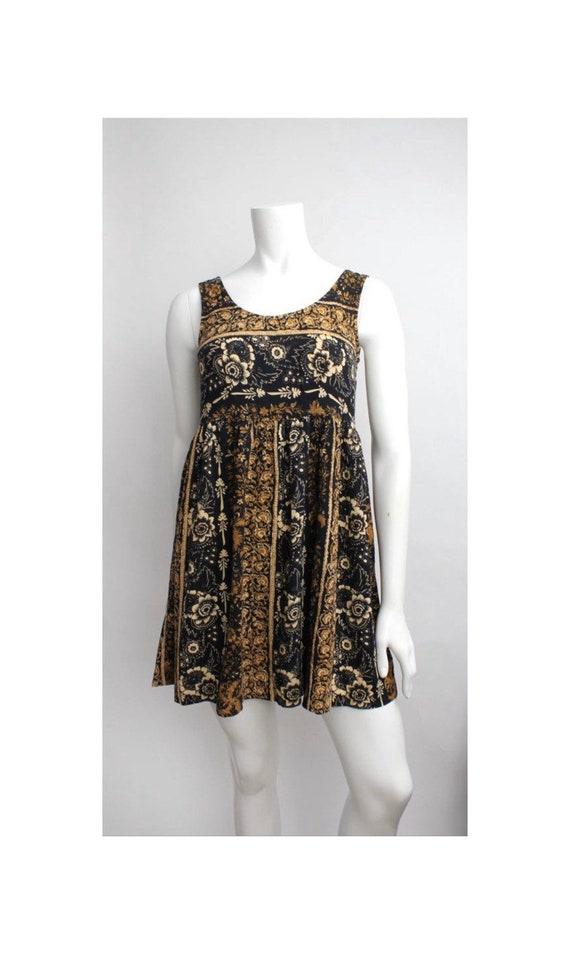 Brenda Babydoll Dress | Vintage Floral Print Rayon