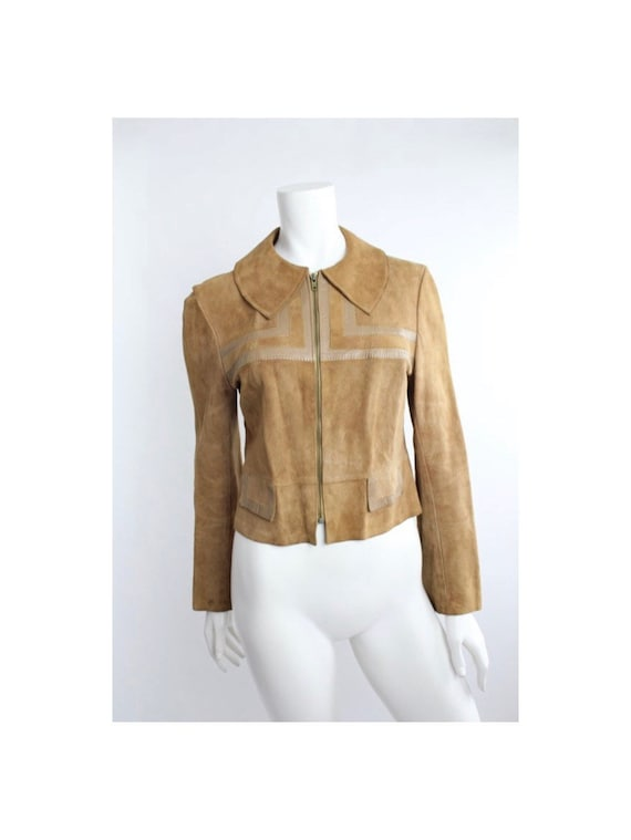 Vintage 1940s Chamois Leather Fitted Jacket | Poin