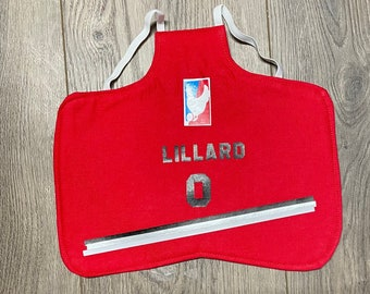 Chicken saddle apron- Portland basketball jersey theme