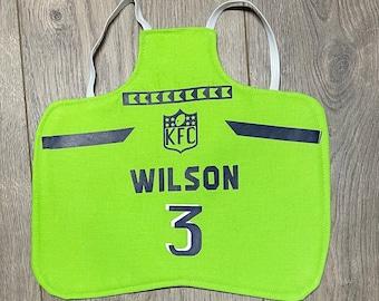 Chicken saddle apron- Seattle football jersey theme