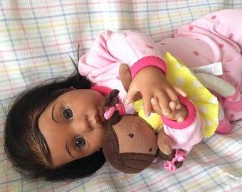 CUSTOM African American CHANEL Biracial Ethnic Reborn Newborn Baby Girl