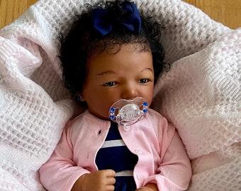 "CUSTOM Reborn Doll Jennie 19"" Newborn Biracial Ethnic Baby Girl Boy"