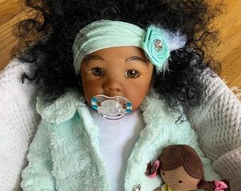 CUSTOM Newborn Reborn Kendal - Biracial Ethnic Baby Girl Doll