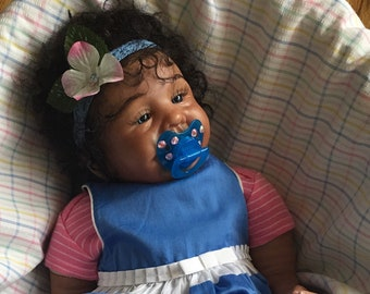 Ready-To-Ship Stunning Reborn Doll JORDYN Newborn Biracial AA Ethnic Baby Girl