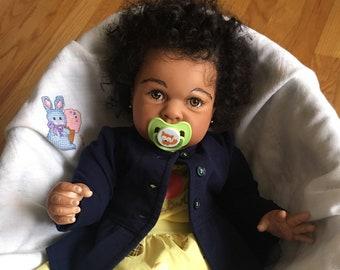 CUSTOM AA Biracial Ethnic 6 Months Reborn Baby Girl/Boy Doll - Elliot