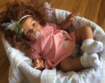 CUSTOM Biracial Ethnic AA African American BIG 12 Months Reborn Toddler Baby Boy/Girl Chanelle Jannie de Lange