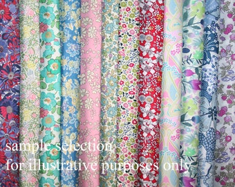 Liberty Tana Lawn selection of 24 x 30 x 30cm/12 x 12' pieces ideal for patchwork and crafts