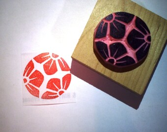 Plum rubber stamp - Hand carved rubber stamp