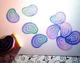 Ripple rubber stamp //hand carved rubber stamp