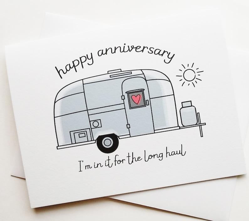 Airstream Trailer Love Card  Happy Anniversary  Camp  image 1