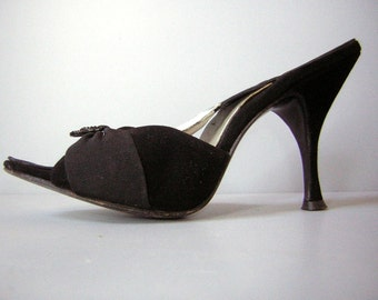 Vintage 50s Springolator High Heels Shoes Bewitching Black - Come Dance with Me