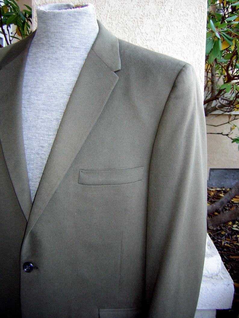 BACCARAT 52 Chest Vintage 60s Khaki Cashmere Wool Sport Coat Jacket Blazer
