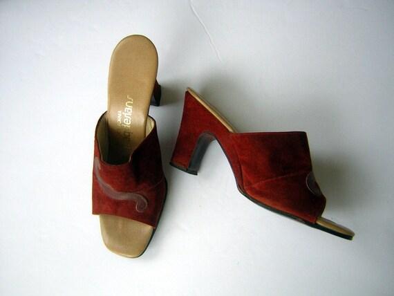 Vintage 70s Heels Mules - California MAGDESIANS Ru
