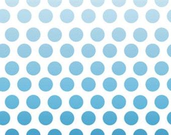 Riley Blake Ombre Navy Polka Dot Fabric
