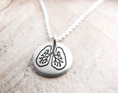 Tiny Lungs necklace in silver
