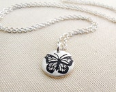 Monarch Butterfly Necklace in silver