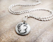 Tiny Scotland necklace in silver, map jewelry, Scotland jewelry, map of Scotland pendant