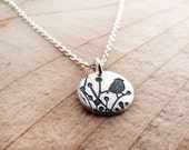 Tiny little bird necklace in silver, songbird jewelry
