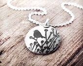 Little bird necklace in silver