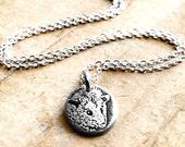 Tiny silver Opossum necklace, possum jewelry