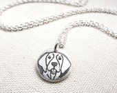 Tiny German Shorthaired Pointer necklace in silver, German Short Hair Pointer jewelry