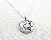 Tiny Rhodesian Ridgeback necklace in silver, dog memorial jewelry, gifts for dog lovers