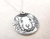 Rat necklace in silver