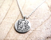 Tiny Airedale necklace in silver, remembrance jewelry, pet memorial
