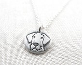 Tiny Great Dane necklace in silver, pet memorial necklace,  remembrance jewelry