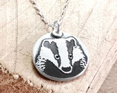 Badger necklace in silver