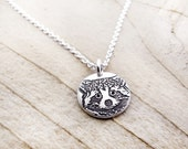 Raccoon Necklace in silver