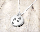 Gift for Outdoorsy Woman Tiny Silver Hiking Boot Necklace Jewelry for Climbers and Backpackers