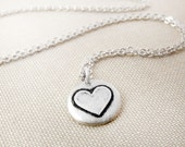 Tiny heart necklace in silver