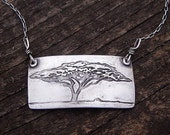 Acacia tree necklace
