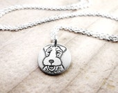 Tiny Wire Fox Terrier necklace, silver dog necklace, remembrance jewelry