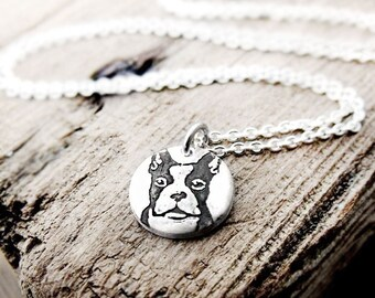 Heeler Necklace Australian Cattle Dog Necklace Tiny Silver