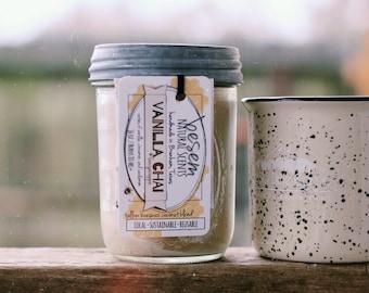 Vanilla Chai // vanilla, cinnamon, milk tea, beeswax tallow candle