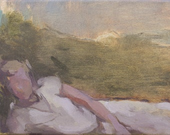 original painting, oil sketch, figure painting by Michelle Farro