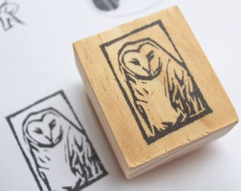owl rubber stamp, owl stationery, woodland creature gifts, owl gifts